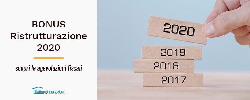 Bonus ristrutturazione 2020