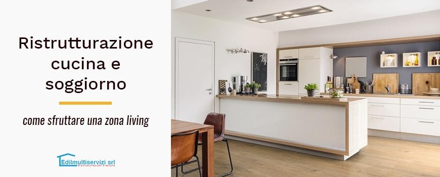 ristrutturazione cucina soggiorno